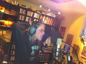 Mike McDonald recording vocals for Idyl Tea cd